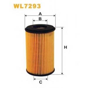 WIX FILTERS WL7293 Фильтр масляный RENAULT CLIO II WL7293/OE666 (пр-во WIX-Filtron)