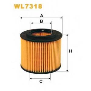 WIX FILTERS WL7318 Фильтр масляный SKODA FABIA WL7318/OE671 (пр-во WIX-Filtron)
