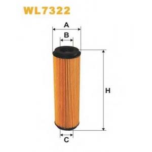 Масляный фильтр wl7322 wix - MERCEDES-BENZ CLK (C209) купе 200 Kompressor (209.342)