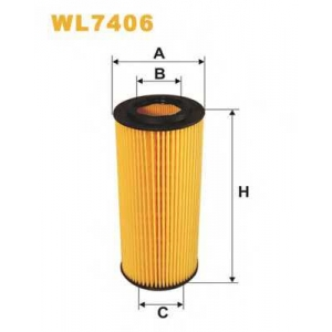 WIX FILTERS WL7406 Фильтр масляный OE649/8/WL7406 (пр-во WIX-Filtron)