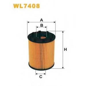 WIX FILTERS WL7408 Фильтр масляный FIAT WL7408/OE670 (пр-во WIX-Filtron)