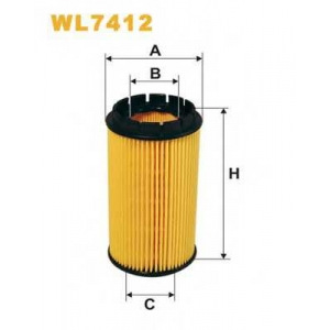 WIX FILTERS WL7412 Фильтр масляный WL7412/OE674 (пр-во WIX-Filtron)