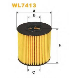 WIX FILTERS WL7413 Фильтр масляный FORD, PEUGEOT WL7413/OE673 (пр-во WIX-Filtron)