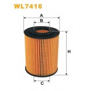 WIX FILTERS WL7416 Фильтр масляный MERCEDES WL7416/OE677/1 (пр-во WIX-Filtron)