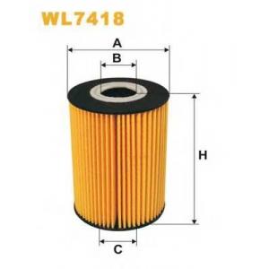 WIX FILTERS WL7418 Фильтр масляный WL7418/OE669/1 (пр-во WIX-Filtron)