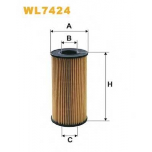 WIX FILTERS WL7424 Фильтр масляный WL7424/OE666/2 (пр-во WIX-Filtron)