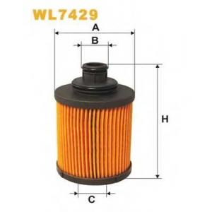 Масляный фильтр wl7429 wix - FIAT PANDA (169) Наклонная задняя часть 1.3 D Multijet 4x4