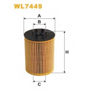 WIX FILTERS WL7449 Фильтр масляный WL7449/672/1 (пр-во WIX-Filtron)