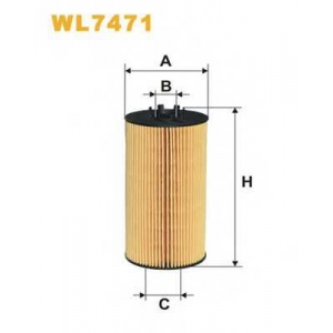 WIX FILTERS WL7471 Фильтр масляный AUDI A4, A6, A8 WL7471/OE650/4 (пр-во WIX-Filtron)