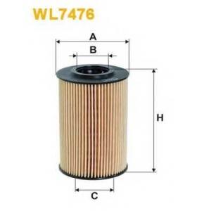 WIX FILTERS WL7476 Фильтр масляный AUDI  SEAT   SKODA  VOLKSWAGEN WL7476/OE688 (пр-во WIX-Filtron)