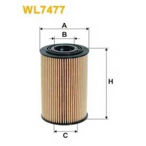 WIX FILTERS WL7477 Фильтр масляный HYUNDAI ELANTRA, i20, i30, KIA SOUL, CEED WL7477/OE674/5 (пр-во WIX-Filtron)