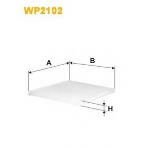 WIX FILTERS WP2102 Фильтр салона Hyundai; Kia (пр-во Wix-Filtron)