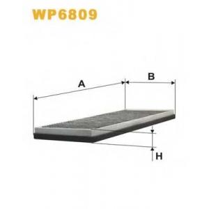 WIX FILTERS WP6809 Фильтр салона AUDI 80, 90 WP6809/K1004A угольный (пр-во WIX-Filtron)