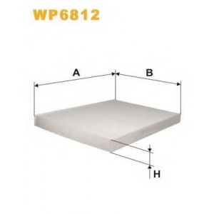 WIX FILTERS WP6812 Фильтр салона AUDI, SKODA, VW WP6812/K1006 (пр-во WIX-Filtron)