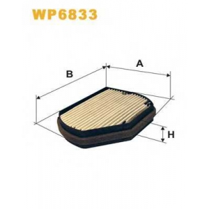 WIX FILTERS WP6833 Фильтр салона MB (угольный) WP6833/K1016A (пр-во WIX-Filtron)