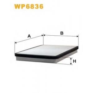 WIX FILTERS WP6836 Фильтр салона PEUGEOT WP6836/K1018 (пр-во WIX-Filtron)