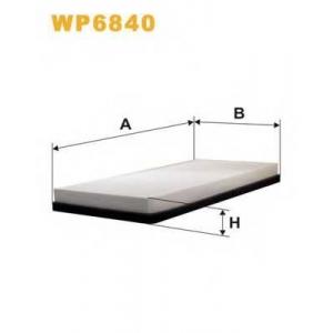 WIX FILTERS WP6840 Фильтр салона PEUGEOT 406 WP6840/K1020 (пр-во WIX-Filtron)