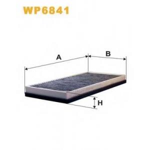WIX FILTERS WP6841 Фильтр салона K1020A/WP6841 угольный (пр-во WIX-Filtron)