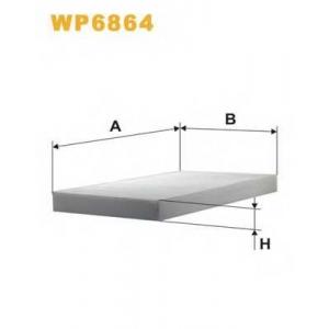WIX FILTERS WP6864 Фильтр салона AUDI A6 K1032/WP6864 (пр-во WIX-Filtron)