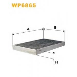 WIX FILTERS WP6865 Фильтр салона AUDI A6, VW PASSAT WP6865/K1032A угольный (пр-во WIX-Filtron)