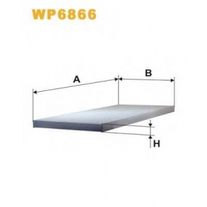 WIX FILTERS WP6866 Фильтр салона WP6866/K1033 (пр-во WIX-Filtron)