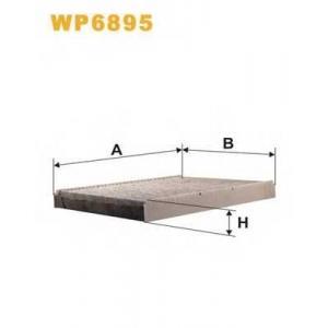 WIX FILTERS WP6895 Фильтр салона VW GOLF WP6895/K1047A угольный (пр-во WIX-Filtron)