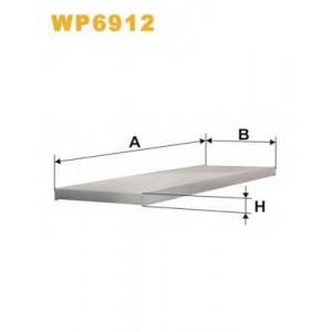 WIX FILTERS WP6912 Фильтр салона K1056/WP6912 (пр-во WIX-Filtron)