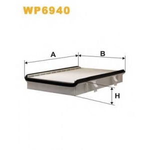 WIX FILTERS WP6940 Фильтр салона VW PASSAT WP6940/K1068 (пр-во WIX-Filtron)