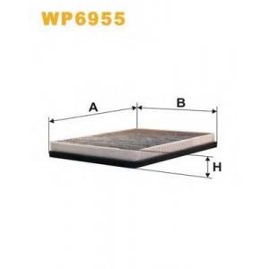 WIX FILTERS WP6955 Фильтр салона WP6955/K1075A-2x угольный (пр-во WIX-Filtron)