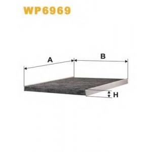 WIXFILTERS WP6969 Фiльтр повiтря 1116A