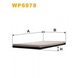 Фильтр, воздух во внутренном пространстве wp6978 wix - MERCEDES-BENZ VITO автобус (638) автобус 108 D 2.3 (638.164)