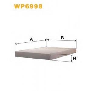WIX FILTERS WP6998 Фильтр салона AUDI A4 WP6998/K1078 (пр-во WIX-Filtron)