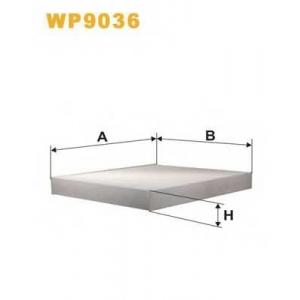 WIX FILTERS WP9036 Фильтр салона AUDI, SKODA, VW WP9036/K1079 (пр-во WIX-Filtron)