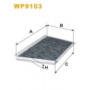 WIX FILTERS WP9103 Фильтр салона WP9103/K1106A угольный (пр-во WIX-Filtron)