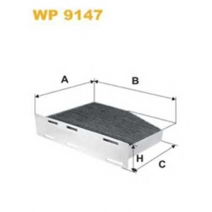 WIX FILTERS WP9147 Фильтр салона AUDI, VW, SKODA WP9147/K1111A угольный (пр-во WIX-Filtron)