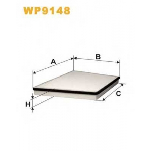WIX FILTERS WP9148 Фильтр салона WP9148/K1146 (пр-во WIX-Filtron)