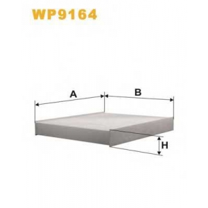 WIX FILTERS WP9164 Фильтр салона VOLVO WP9164/K1154 (пр-во WIX-Filtron)