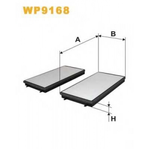 WIX FILTERS WP9168 Фильтр салона BMW Serie 7 (E65/E66) (пр-во Wix-Filtron)