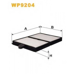 WIX FILTERS WP9204 Фильтр салона K1134-2X/WP9204 (пр-во WIX-Filtron)
