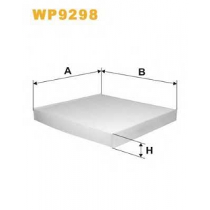 WIX FILTERS WP9298 Фильтр салона WP9298/K1219 (пр-во WIX-Filtron)