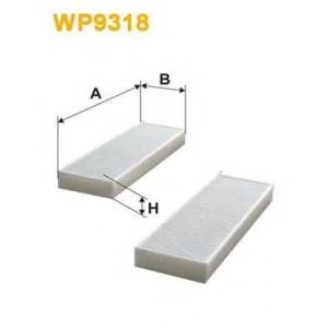 WIX FILTERS WP9318 Фильтр салона CITROEN, PEUGEOT (пр-во WIX-Filtron)