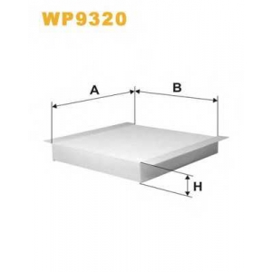 WIX FILTERS WP9320 Фильтр салона WP9320/K1228 (пр-во WIX-Filtron)