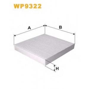WIX FILTERS WP9322 Фильтр салона MITSUBISHI LANCER VII, OUTLANDER VII 2.0-2.2DID WP9322/K1241 (пр-во WIX-Filtron)