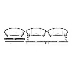 WOKING P2603.02 Комплект тормозных колодок, дисковый тормоз Исузу Импульс