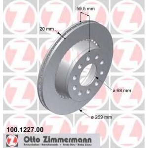 ZIMMERMANN 100.1227.00 Brake disc