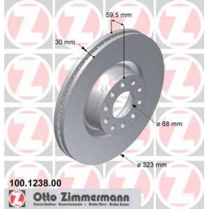 ZIMMERMANN 100.1238.00 тормозные диски