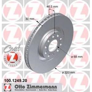 ZIMMERMANN 100124920 Гальмiвнi диски