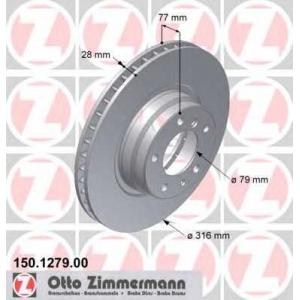 ZIMMERMANN 150.1279.00 тормозные диски