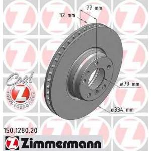 ZIMMERMANN 150128020 Диск гальмівний BMW Е38 (740i,750i) (334x32)