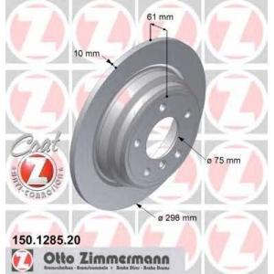 ZIMMERMANN 150.1285.20 Brake disk, rear L/R BMW 5 (E39) 2.0-2.5D 11.95-06.03